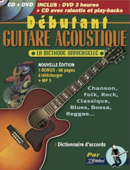 REBILLARD - DEBUTANT GUITARE ACOUSTIQUE + CD ET DVD
