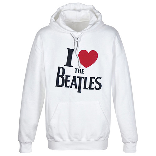 BEATLES HOODED SWEATER - MOTIF : I LOVE THE BEATLES - M
