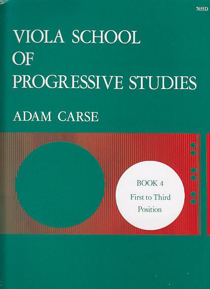 Carse Adam - Viola School Of Progressive Studies Vol.4