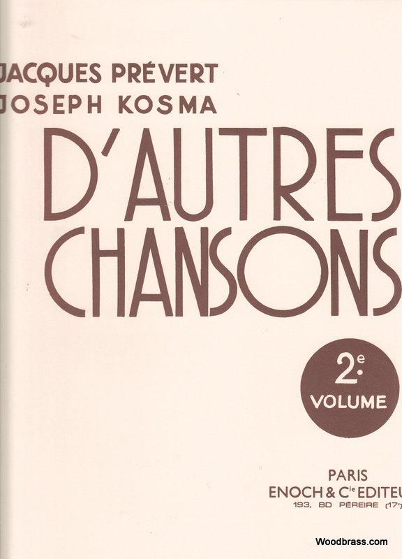 Prevert / Kosma - D'autres Chansons Vol.2