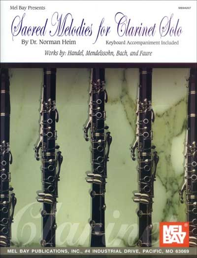 Sacred Melodies For Clarinet Solo - Clarinet