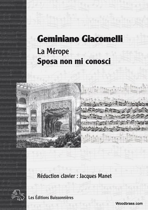 Giacomelli G. - Sposa Non Mi Conosci (la Merope) - Chant-piano