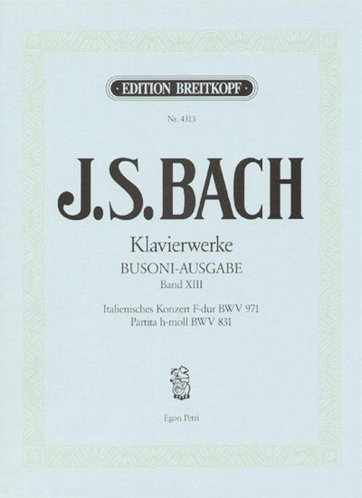 Bach Johann Sebastian - Italienisches Konzert, Partita - Piano