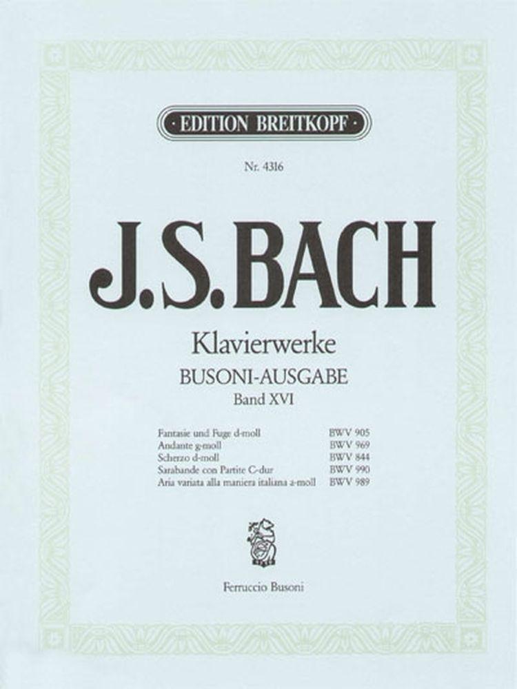 Bach Johann Sebastian - Verschiedene Werke - Piano