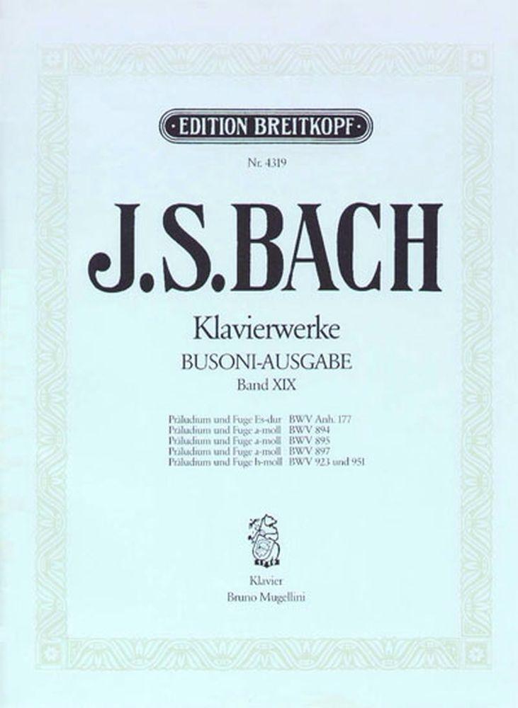 Bach Johann Sebastian - Praludien Und Fugen - Piano