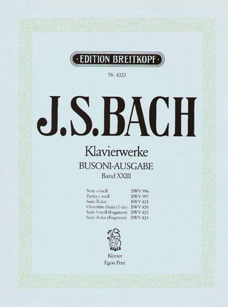 Bach Johann Sebastian - Suiten - Piano