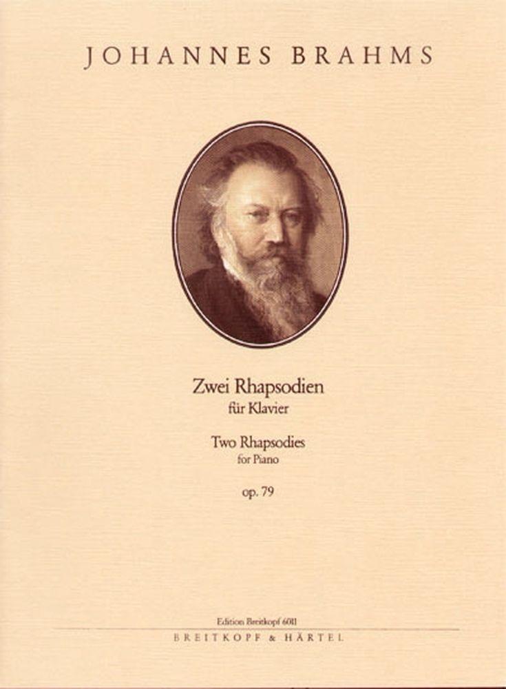 Brahms Johannes - Zwei Rhapsodien Op. 79 - Piano