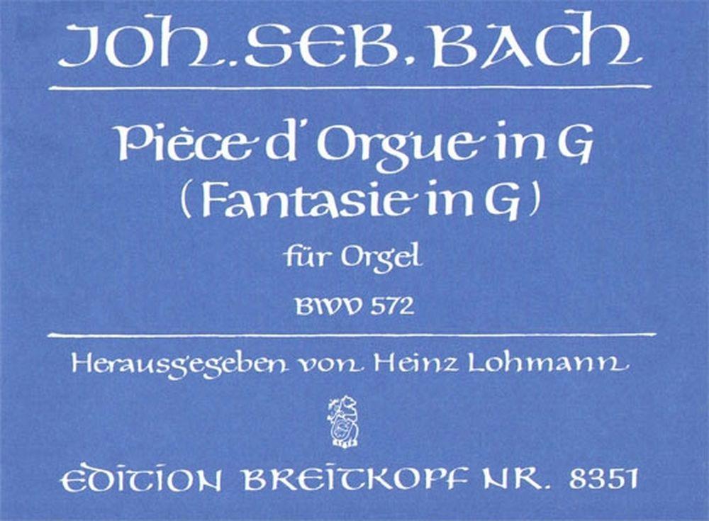 Bach Johann Sebastian - Piece D'orgue In G Bwv 572 - Organ