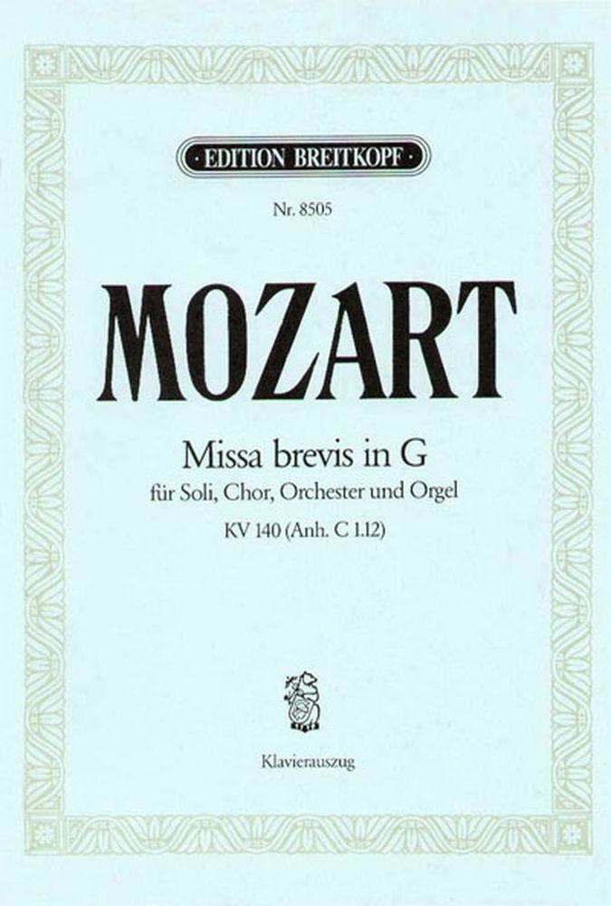 Mozart Wolfgang Amadeus - Missa Brevis In G Kv140(c1.12) - Piano