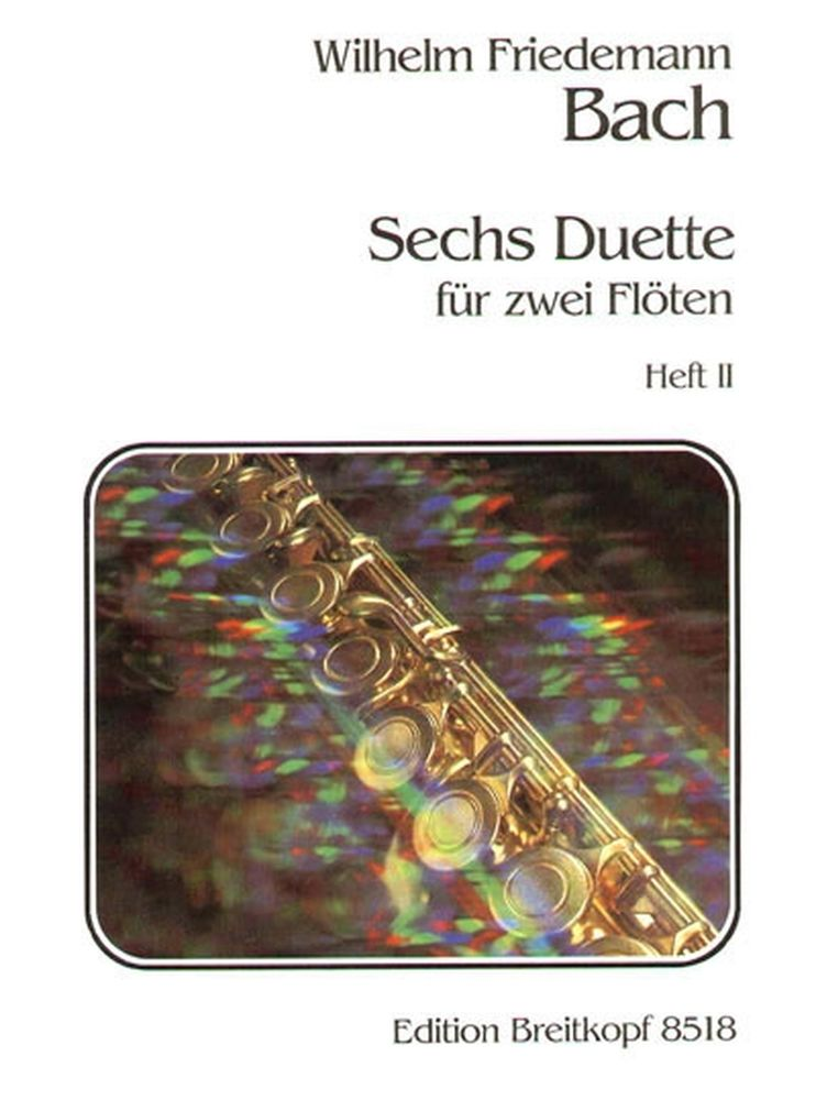 Bach W.f. - 6 Duos 2 Flutes Vol.1