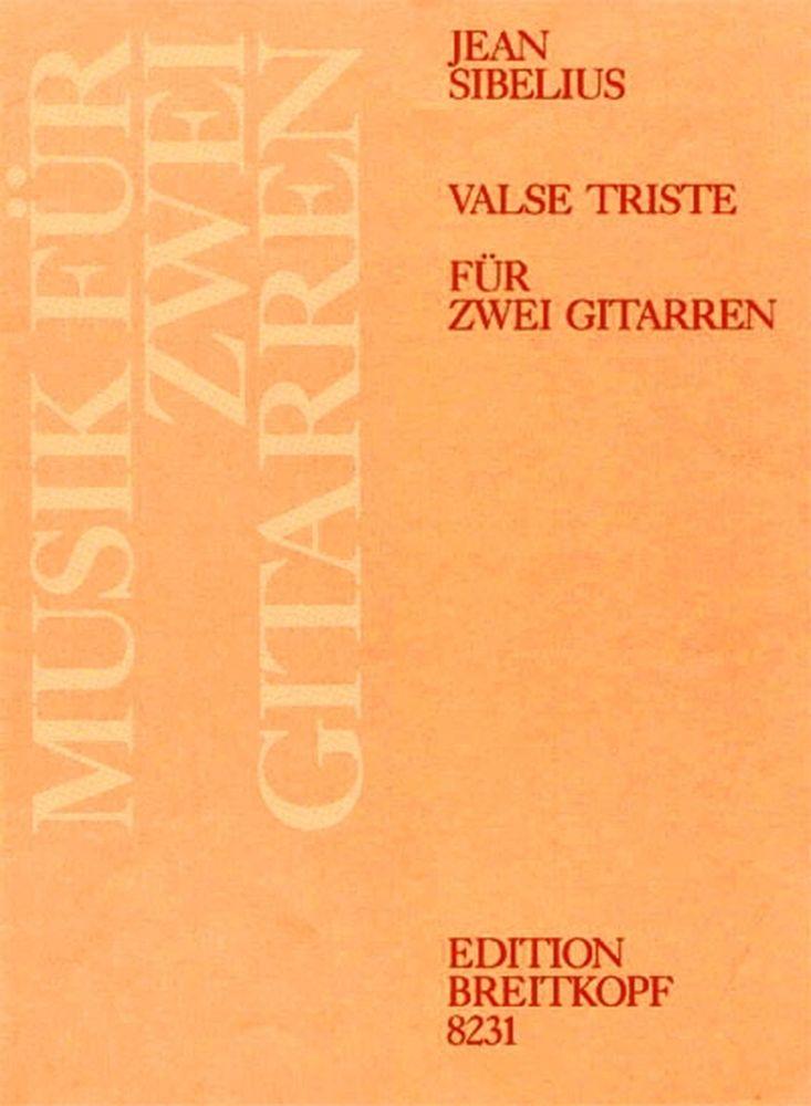Sibelius Jean - Valse Triste Aus Op. 44 - 2 Guitar