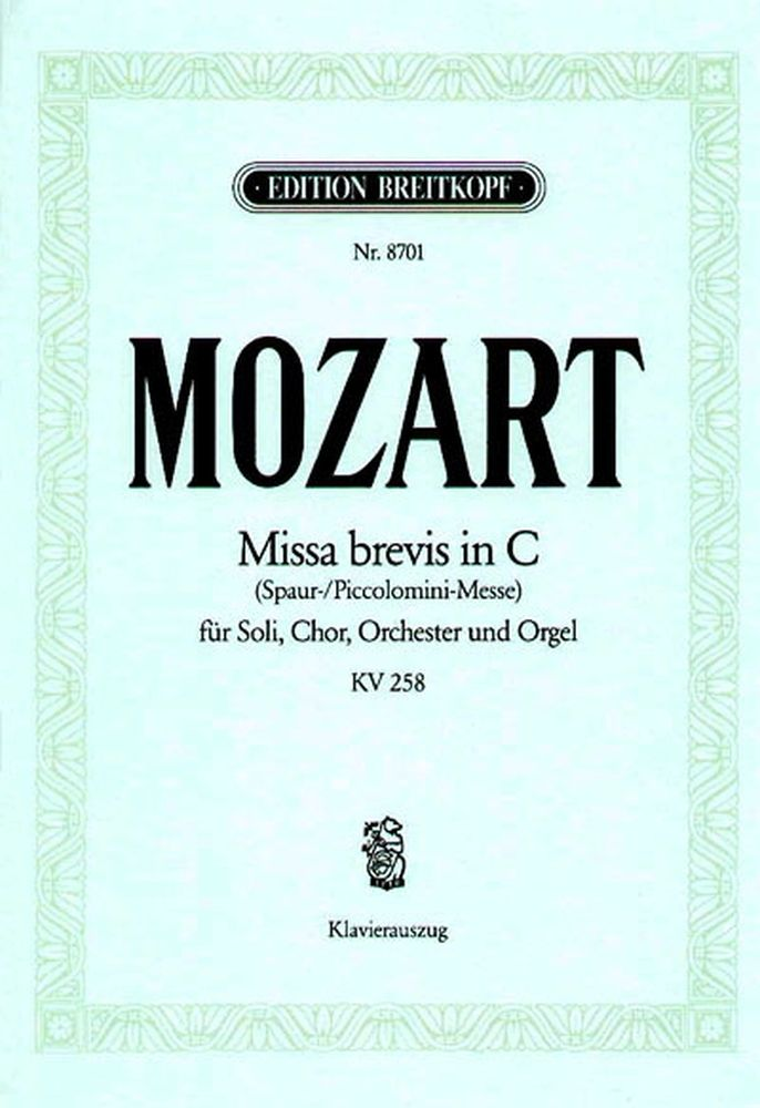 Mozart Wolfgang Amadeus - Missa In C Kv 258 (spaur) - Piano