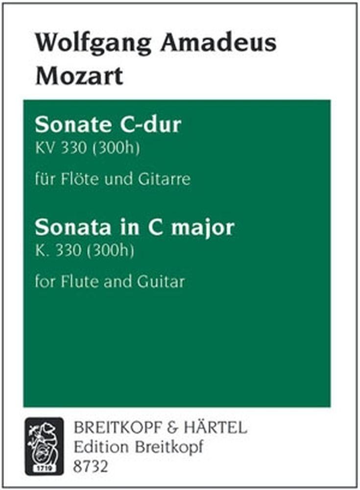 Mozart Wolfgang Amadeus - Sonate C-dur Kv 330 (300h) - Flute, Guitar