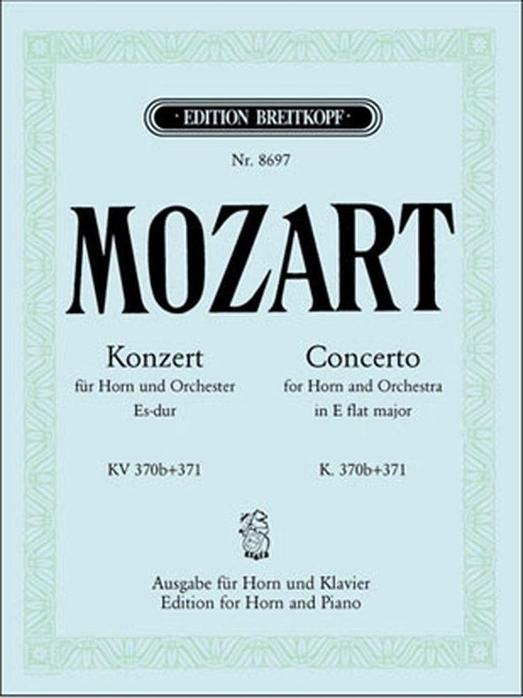 Mozart Wolfgang Amadeus - Hornkonzert Es-dur Kv 370b/371 - Horn, Piano