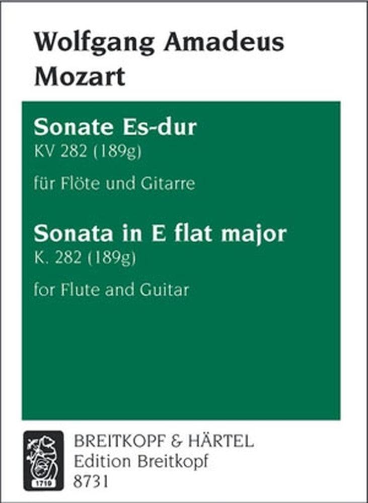 Mozart Wolfgang Amadeus - Sonate Es-dur Kv 282 (189g) - Flute, Guitar