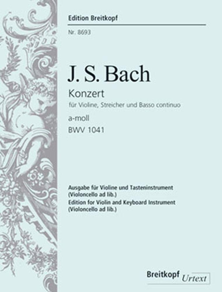 Bach J.s. - Concerto Pour Violon En La Mineur Bwv 1041 (avec Fac-simile) - Violon, Piano