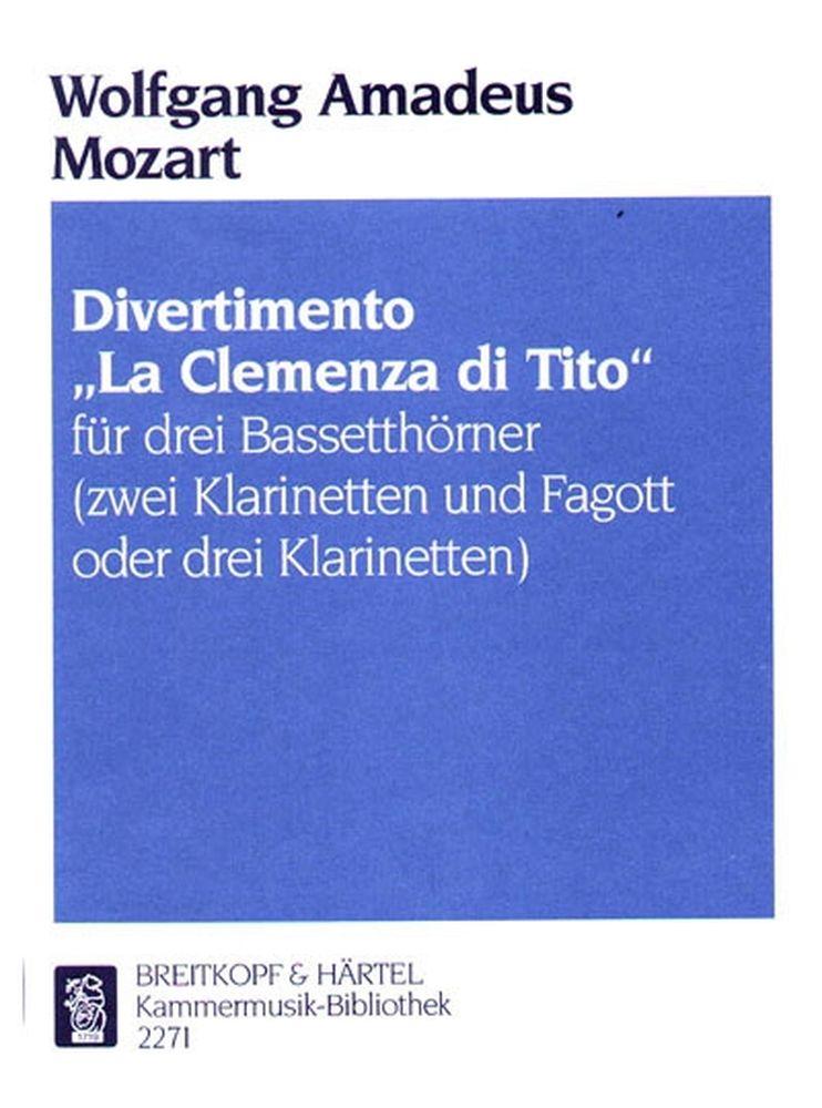 Mozart Wolfgang Amadeus - Divertimento Titus - 3 Bass Horn