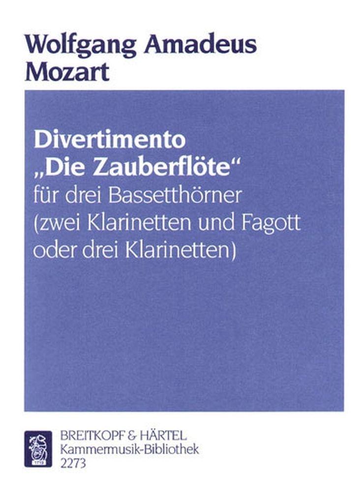 Mozart Wolfgang Amadeus - Divertimento Zauberflote - 3 Bass Horn