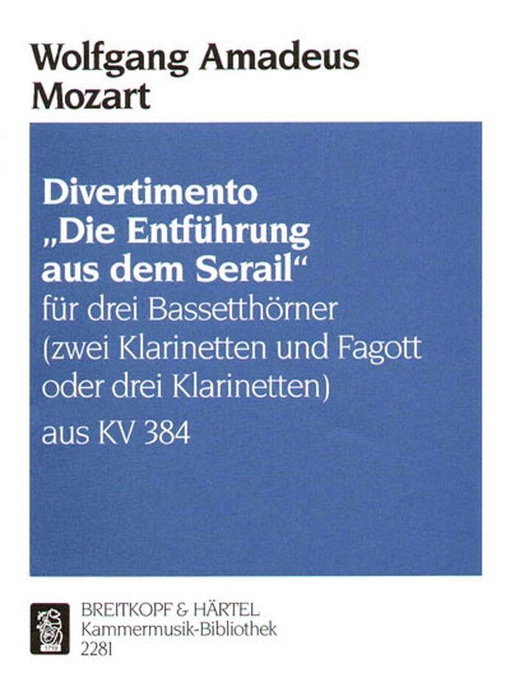 Mozart Wolfgang Amadeus - Divertimento Entfuhrung - 3 Bass Horn