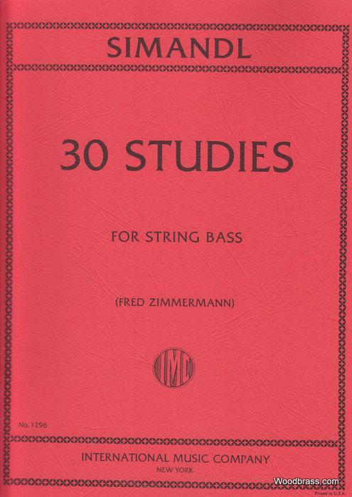 Simandl F - 30 Studies For Development Of Tone - Contrebasse