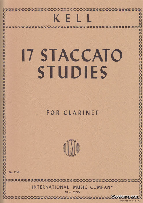 Kell R. - 17 Staccato Studies - Clarinette