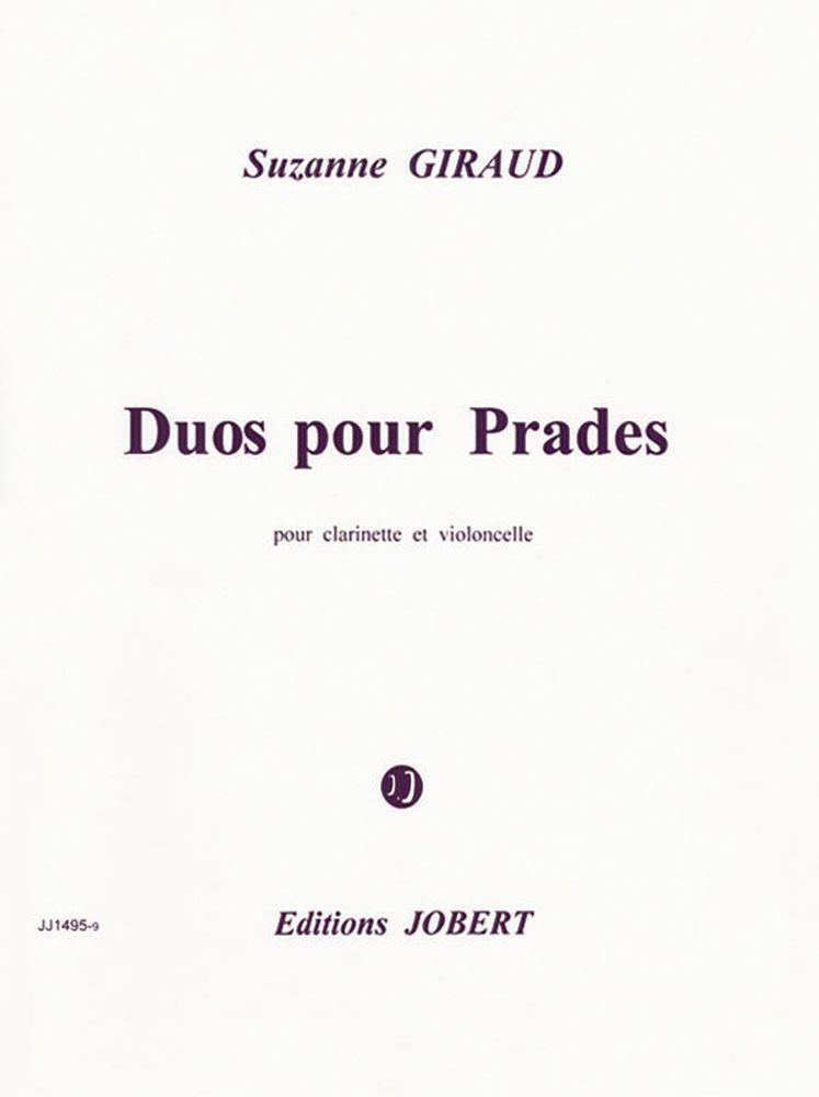 Giraud Suzanne - Duo Pour Prades - Clarinette, Violoncelle