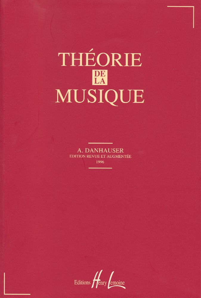 Danhauser Adolphe - Théorie De La Musique
