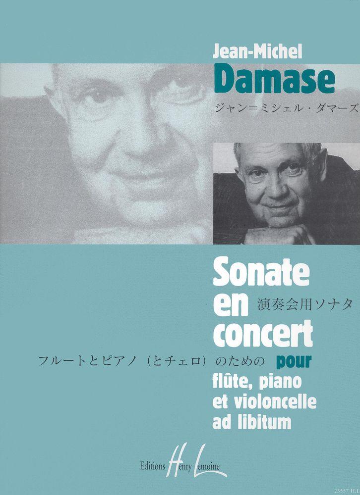 Damase Jean-michel - Sonate En Concert Op.17 - Flute, Violoncelle, Piano