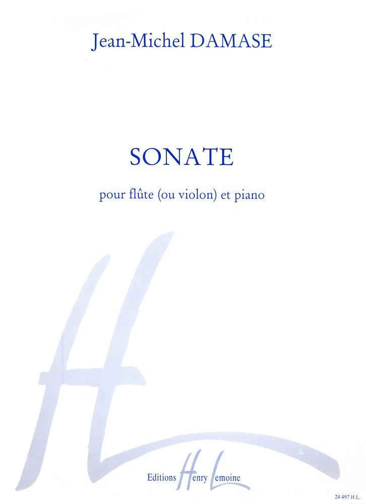 Damase Jean-michel - Sonate - Flute Ou Violon, Piano