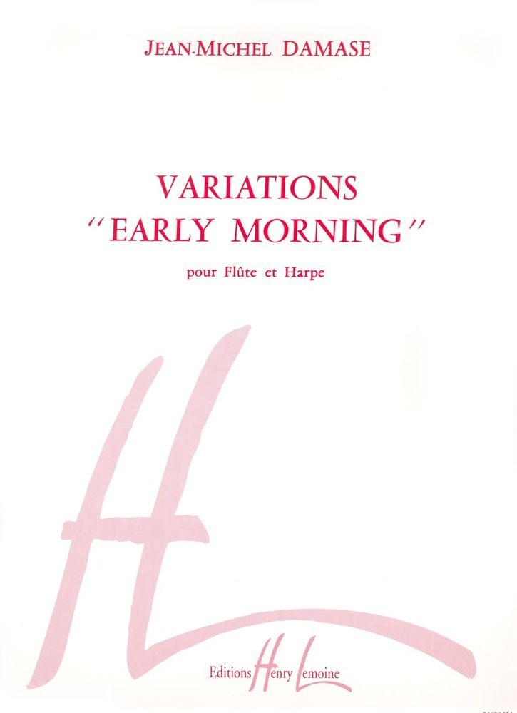 Damase Jean-michel - Variations Early Morning - Flute, Harpe
