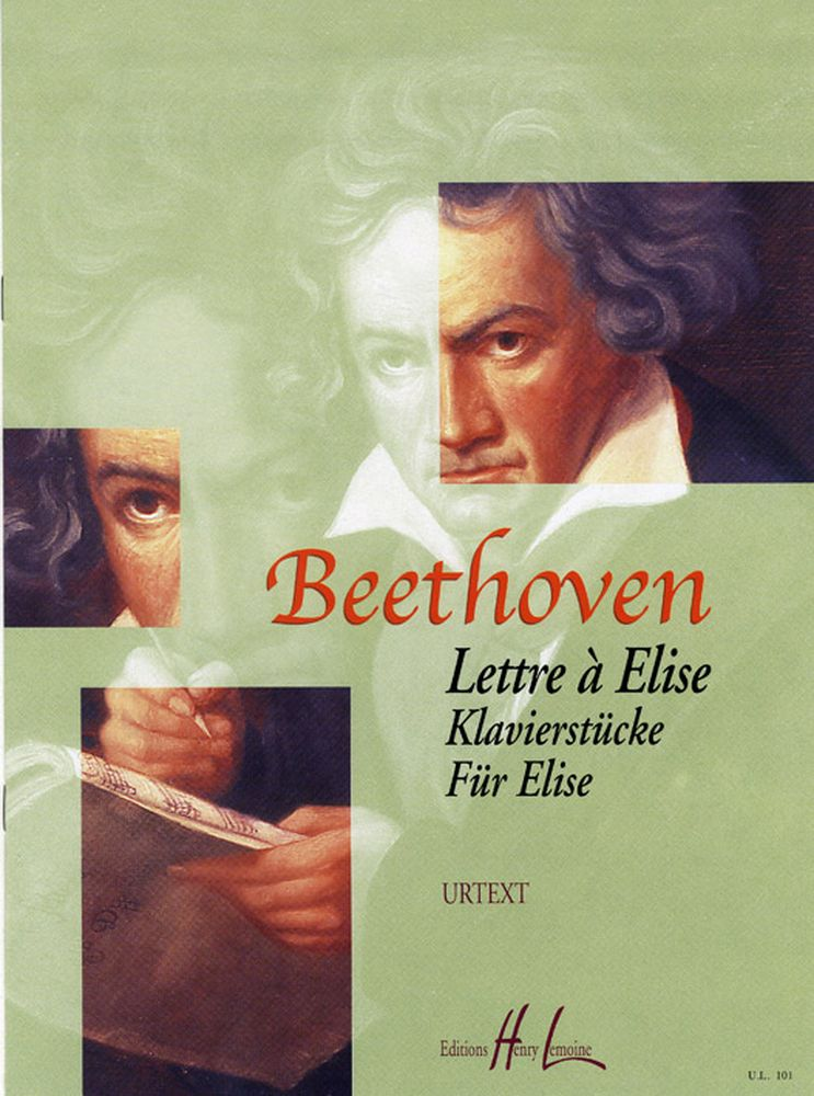 BEETHOVEN LUDWIG VAN - LETTRE A ELISE - PIANO