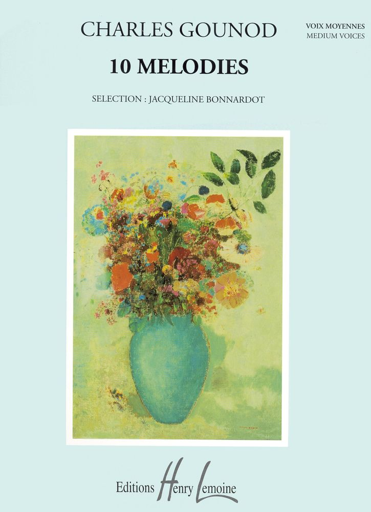 Gounod Charles - Mélodies (10) - Voix Moyenne, Piano