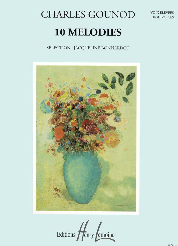 Gounod Charles - Mélodies (10) - Voix Elevee, Piano