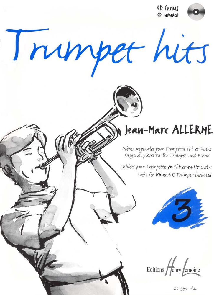 Allerme Jean-marc - Trumpet Hits Vol.3 + Cd - Trompette, Piano