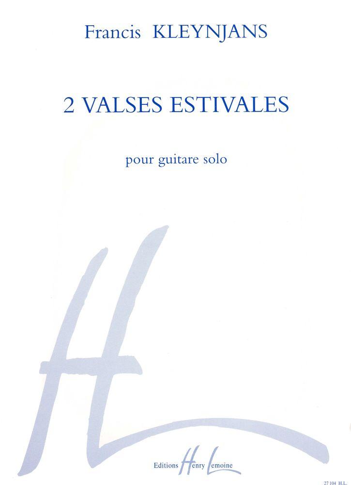 Kleynjans F. - Valses Estivales (2) - Guitare