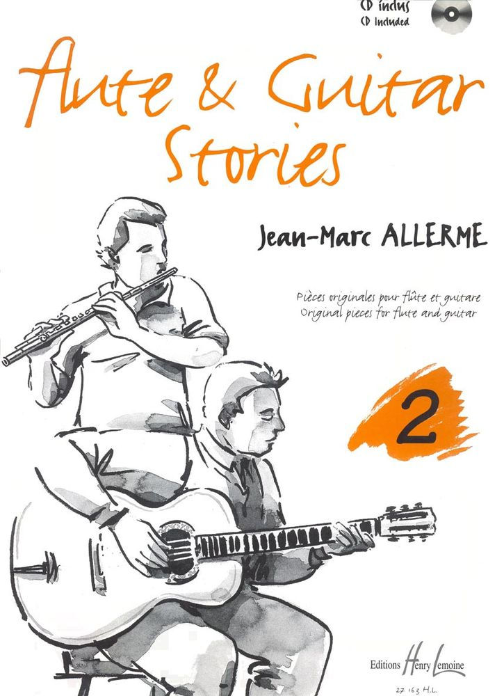 ALLERME JEAN-MARC - FLUTE AND GUITAR STORIES VOL.2 + CD - FLUTE, GUITARE