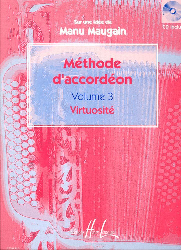 Maugain Manu - Méthode D'accordéon Vol.3 + Cd