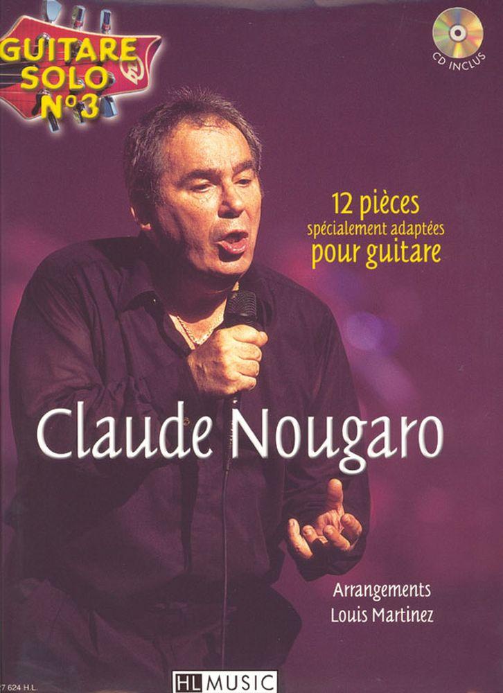 Nougaro Claude - Guitare Solo N°3 : Claude Nougaro + Cd - Chant, Guitare