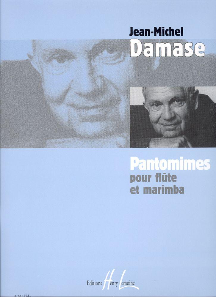 Damase Jean-michel - Pantomimes - Flute, Marimba