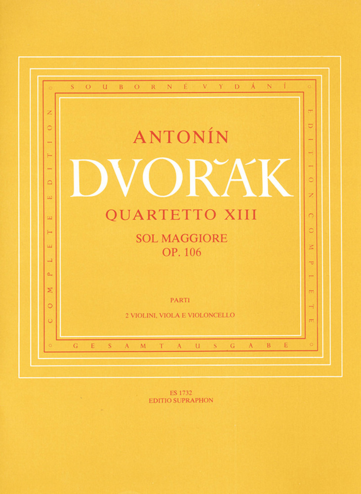 Dvorak A. - String Quartet N°13 Op.106 - Set Of Parts