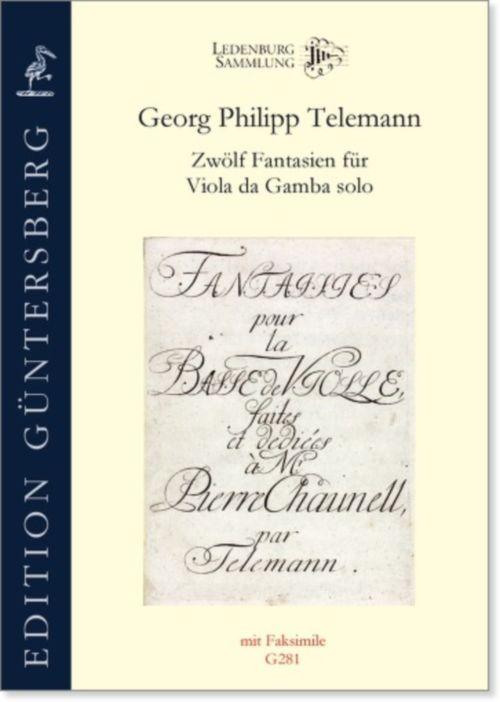 Telemann G.p. - 12 Fantaisies - Viole De Gambe