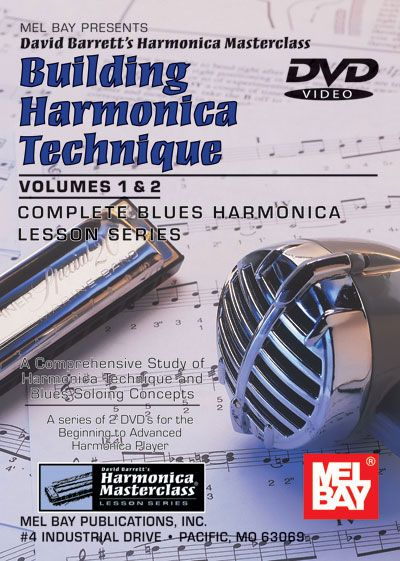 Mel bay barrett david building harmonica technique volume 1 and 2 harmonica