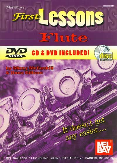 MCCASKILL MIZZY - FIRST LESSONS FLUTE + CD + DVD - FLUTE
