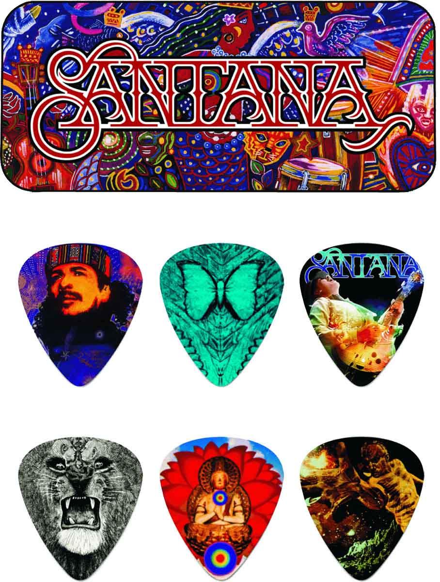 Dunlop Mediators Collector Carlos Santana Boite De 6, Heavy