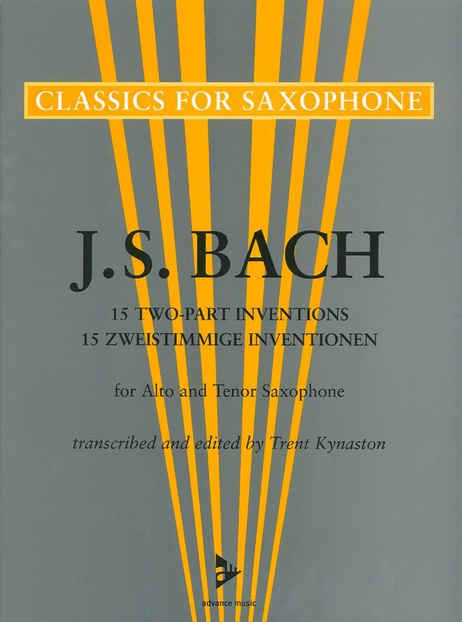 BACH J.S - 15 ZWEISTIMMIGE INVENTIONEN FOR ALTO AND TENOR SAXOPHONE