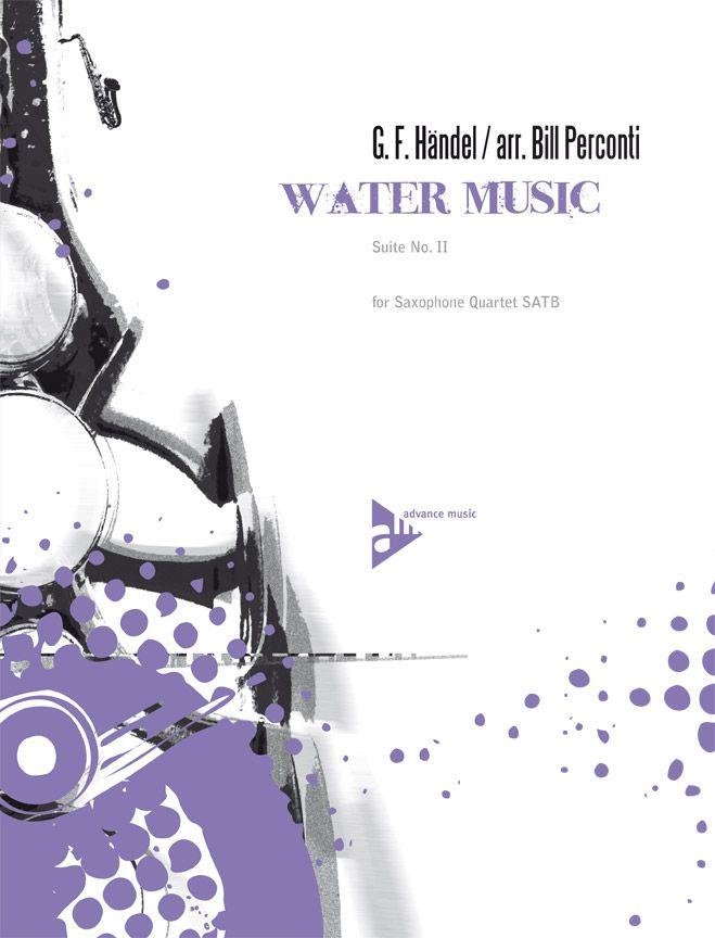 Haendel G.f. - Water Music - 4 Saxophones (satbar)