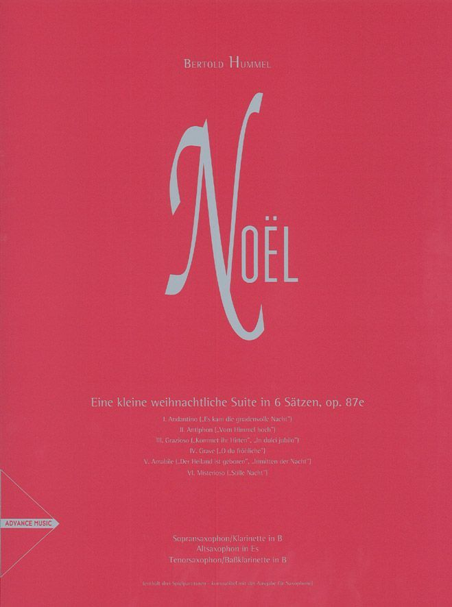 Hummel B. - Noel Op. 87e - 3 Saxophones (sat), Clarinet In Bb And Bass Clarinet In Bb