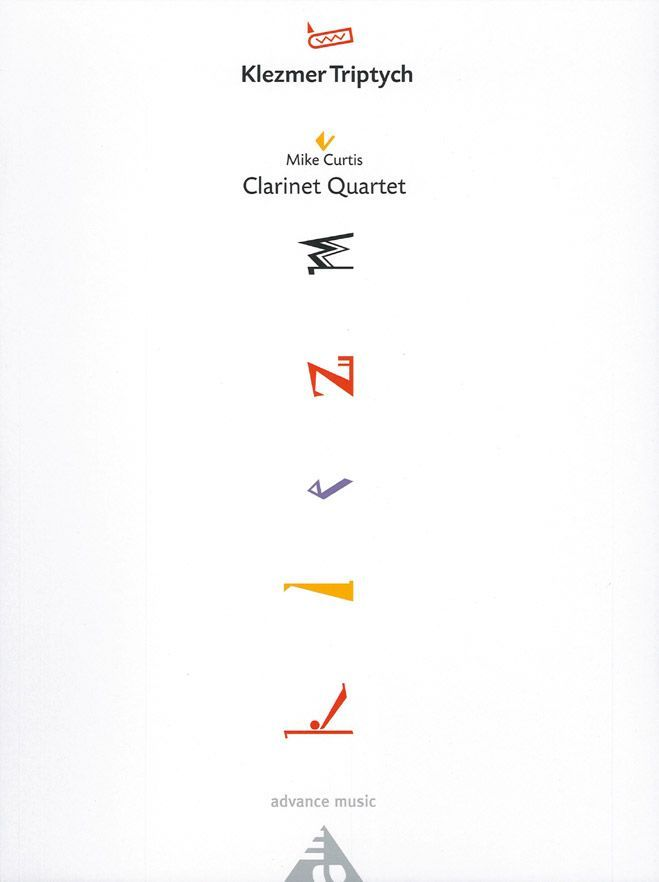 Curtis M. - Klezmer Triptych - 4 Clarinettes (2 Bb, 1 Eb (or 3 Bb) And 1 Bass Bb)