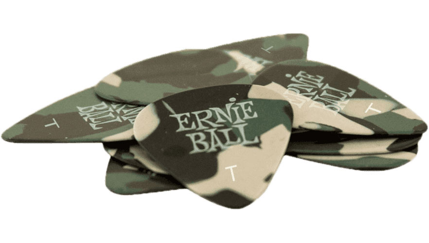 Ernie Ball Mediators Specialty Sachet De 12 Camouflage 0,46mm