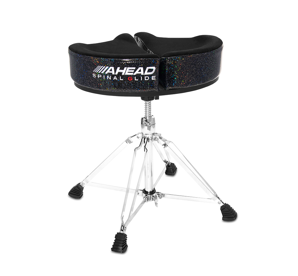 SPG-BS-4 DRUM THRONE SPINAL-G BLACK SPARKLE - 4 LEGS BASE
